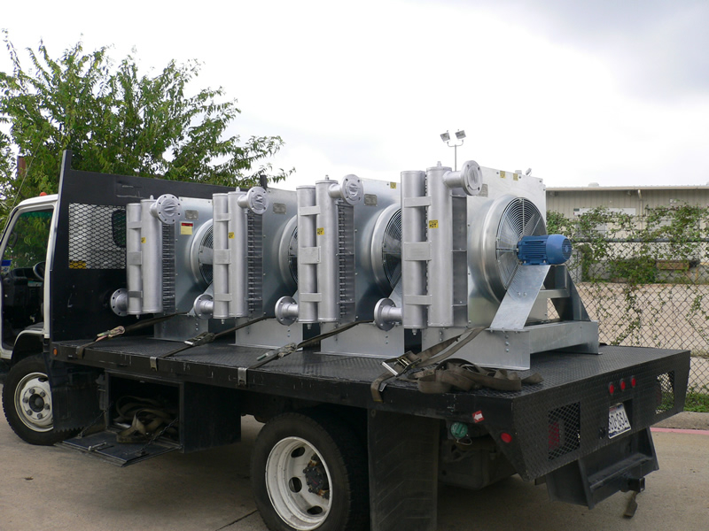 Natural Gas Aftercooler for Blower